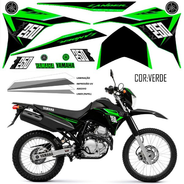 Faixa Lander 250 verde grafismo 2015