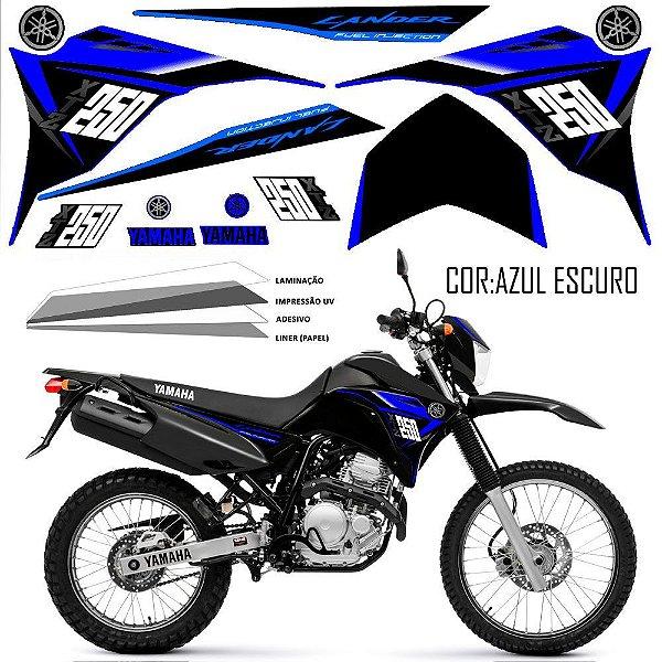 Faixa Lander 250 azul grafismo 2015