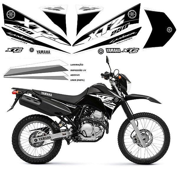 Faixa Lander 250 preto com branco grafismo 2016