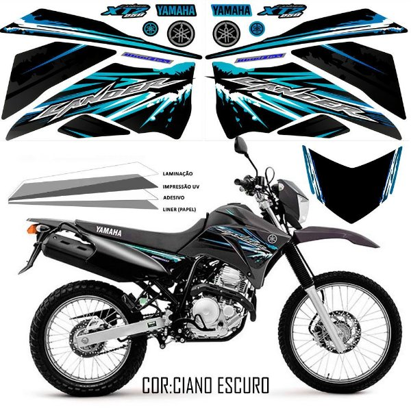 FAIXA Lander 250 preto com ciano grafismo 2017 exclusivo