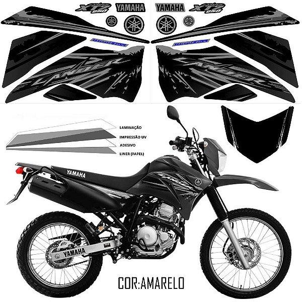 FAIXA Lander 250 preto com cinza grafismo 2017 exclusivo