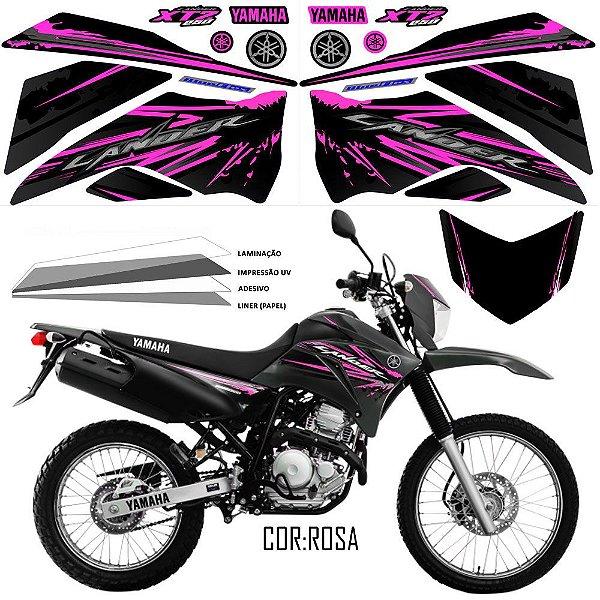 FAIXA Lander 250 preto com rosa grafismo 2017 exclusivo