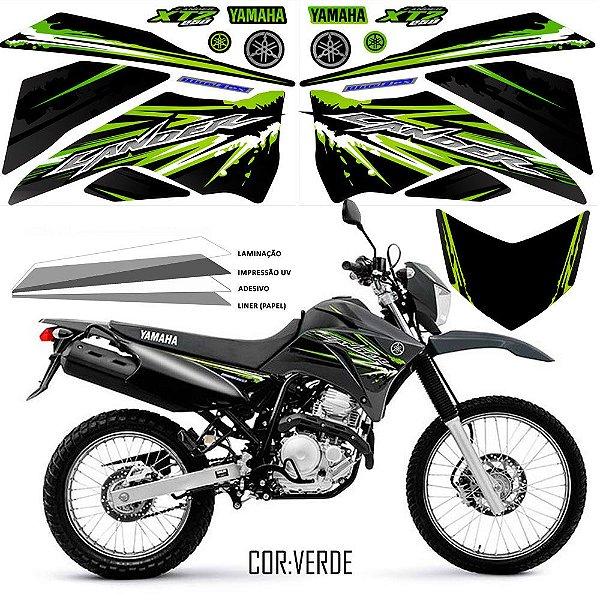 FAIXA Lander 250 cinza com verde grafismo 2017