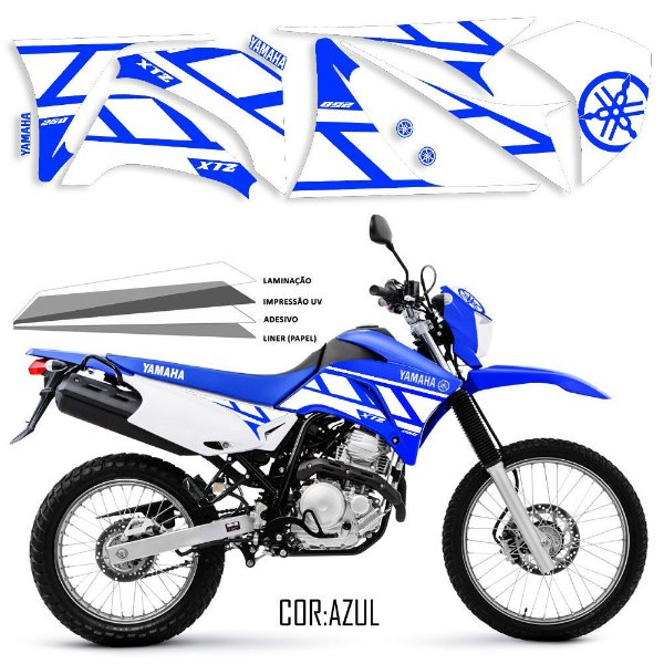 FAIXA Lander 250 especial azul com branco