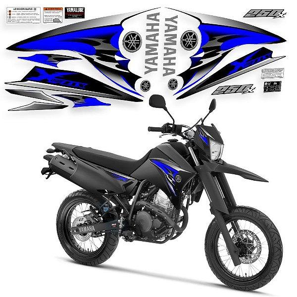 Faixa lander 250 x adesivo azul com preto