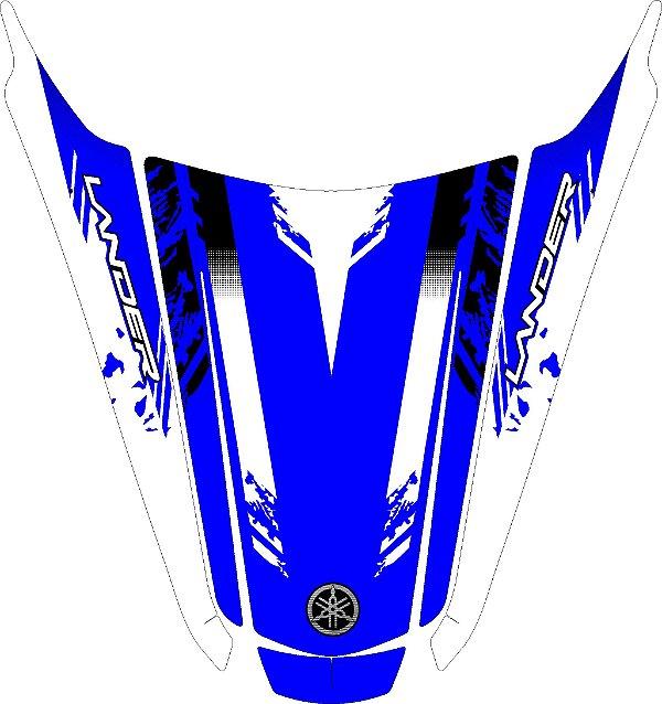 Adesivo rabeta Lander 250 azul