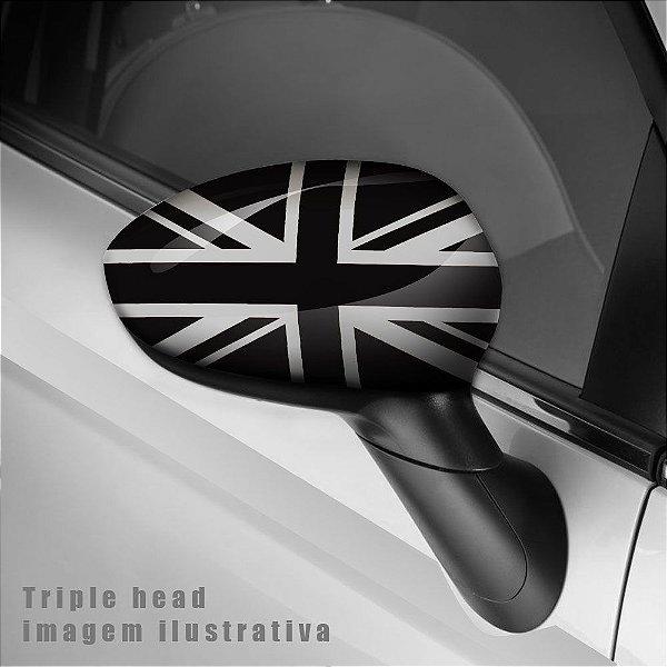 England preto e branco envelopamento retrovisor