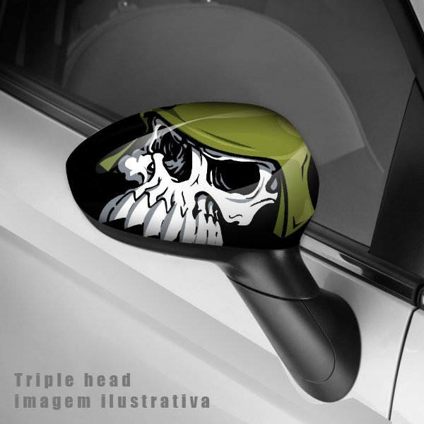 Metal mulisha envelopamento retrovisor