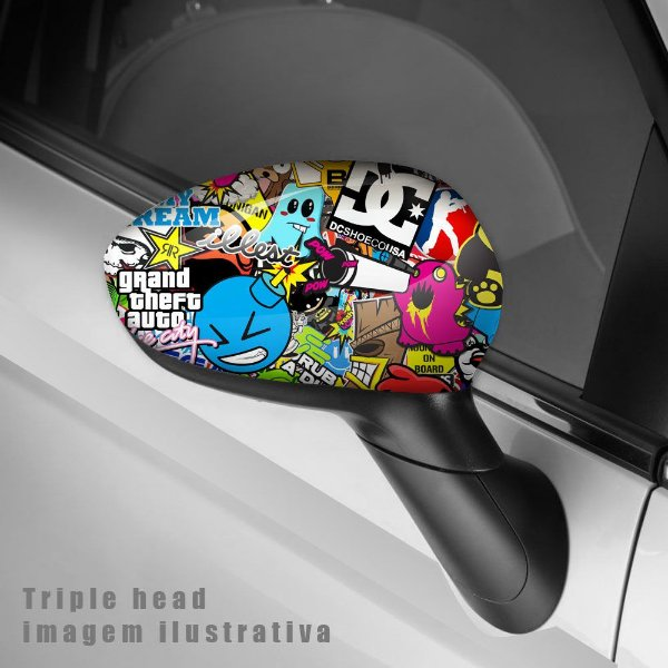 Sticker bomb´s envelopamento retrovisor
