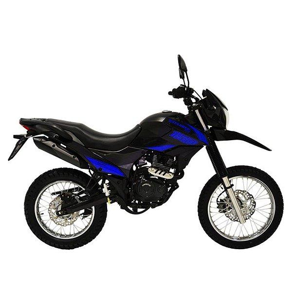 Faixa Shineray New Explorer 150cc  preto com azul