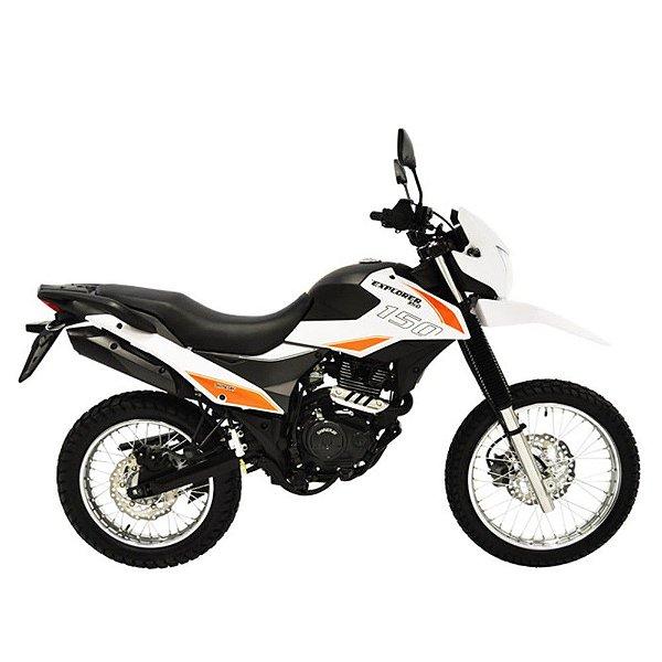 Faixa Shineray New Explorer 150cc  branca com laranja