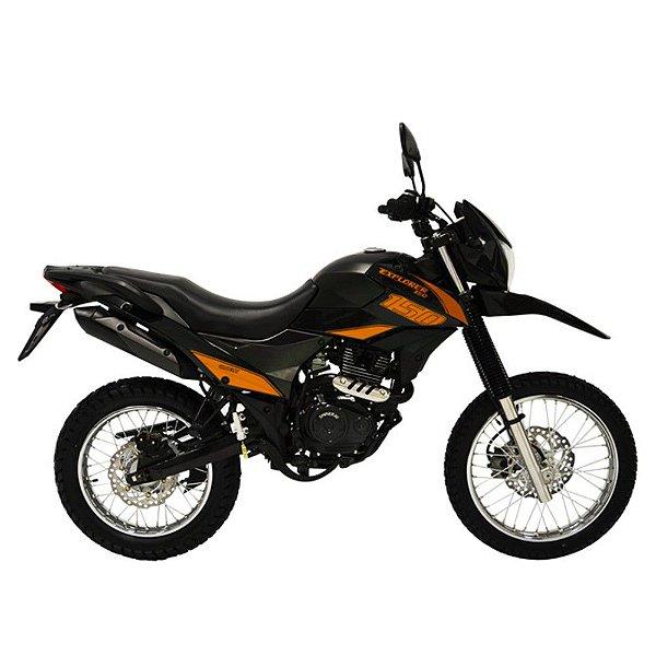 Faixa Shineray New Explorer 150cc  preto com laranja