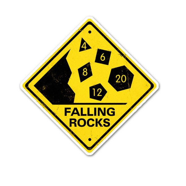 Rocks Fall, Everyone Dies Sticker
