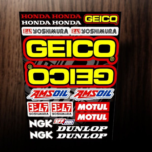 Adesivos Honda GEICO