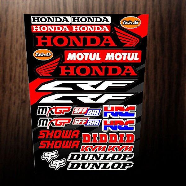 Adesivos Honda, motul, crf, mxgp, hrc, showa, did, dunlop, fox, sff air,twin air