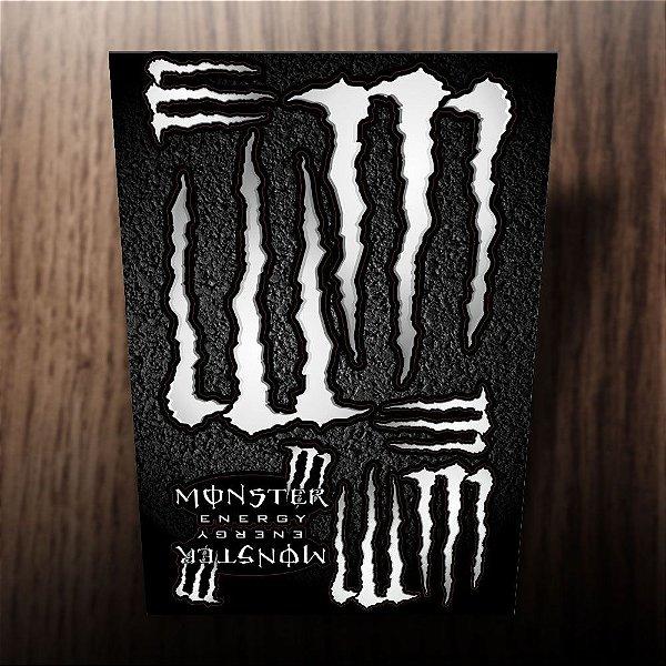 Adesivos monster energy prata