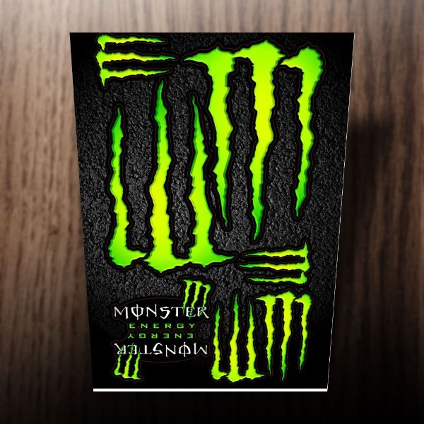 Adesivos monster energy verde