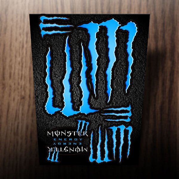 Adesivos monster energy azul ciano