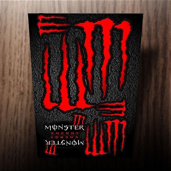 Adesivos refletivos monster energy vermelho