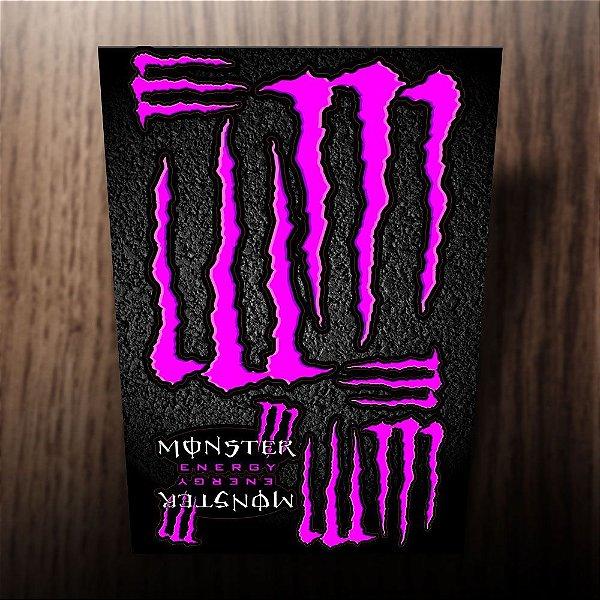 Adesivos refletivos monster energy rosa