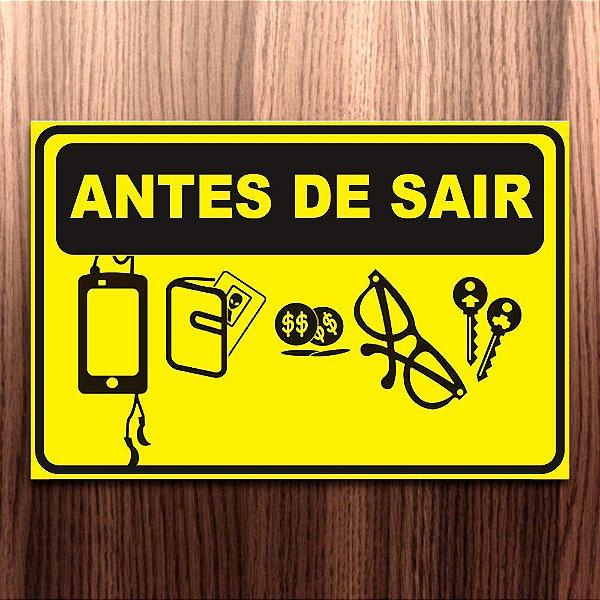 ANTES DE SAIR placa impermeável pvc 1mm