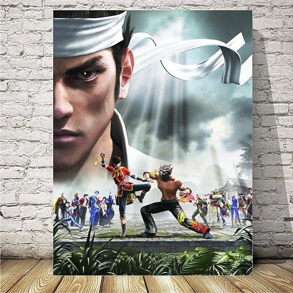 virtua Fighter Placa mdf decorativa