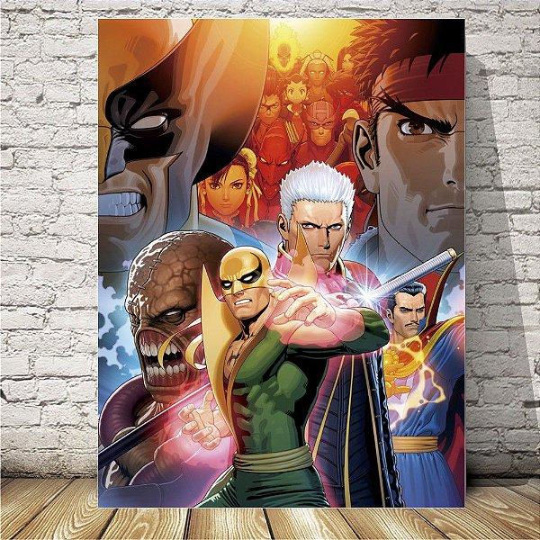 Marvel vs Capcom Placa mdf decorativa