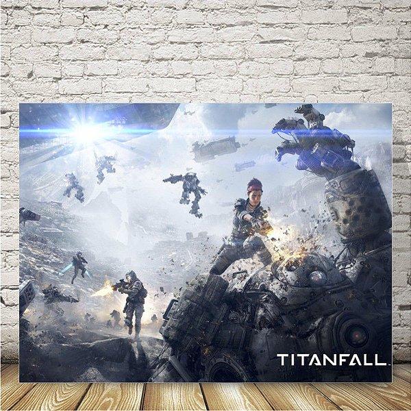 Titanfall Placa mdf decorativa