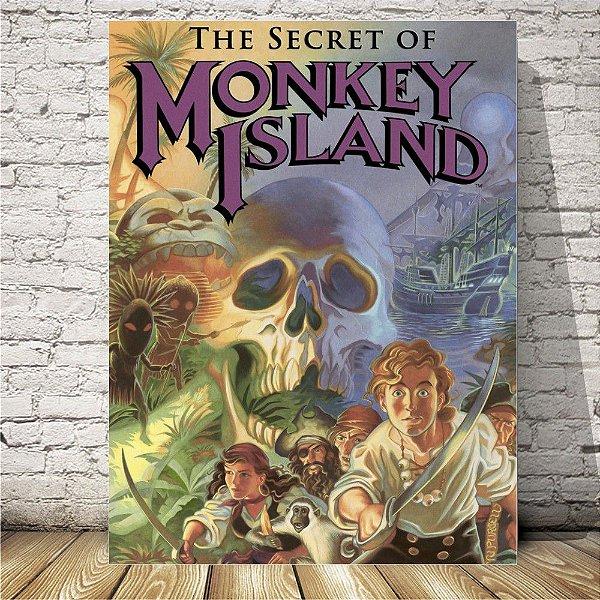 Monkey Island Placa mdf decorativa