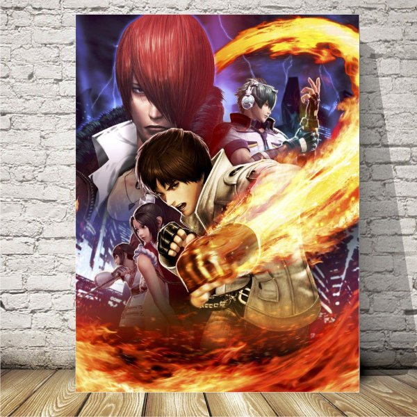 The King of fighters Placa mdf decorativa