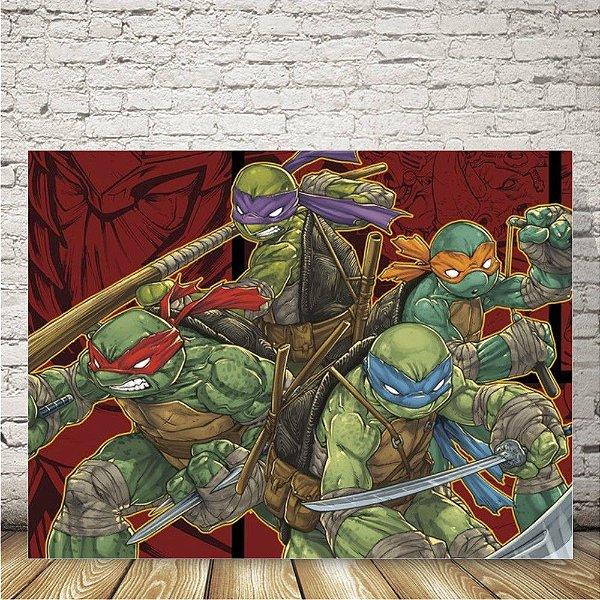 Tartarugas ninja Placa mdf decorativa