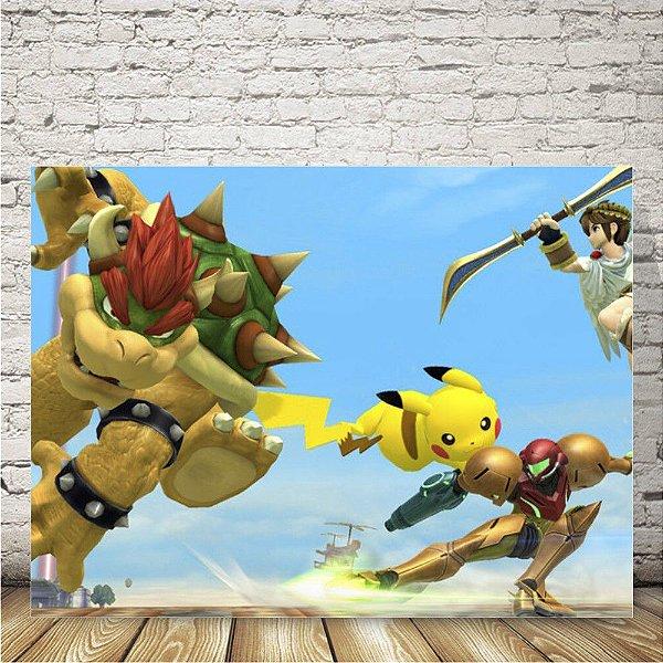 Smash Bros Brawl Placa mdf decorativa