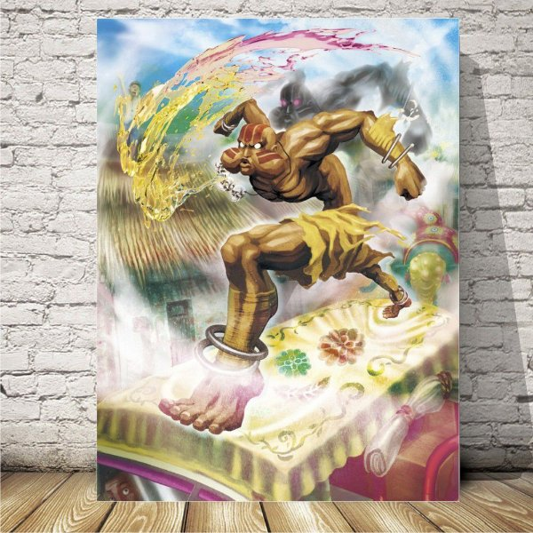 Street fighter dhalsim Placa decorativa mdf