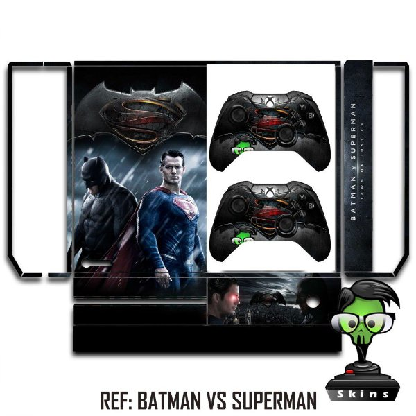 Adesivo skin xbox one fat Batman vs superman
