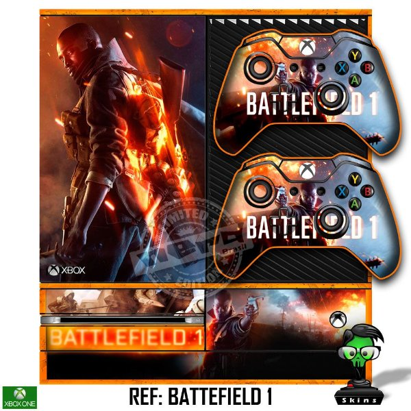 Adesivo skin xbox one fat Battlefield 1
