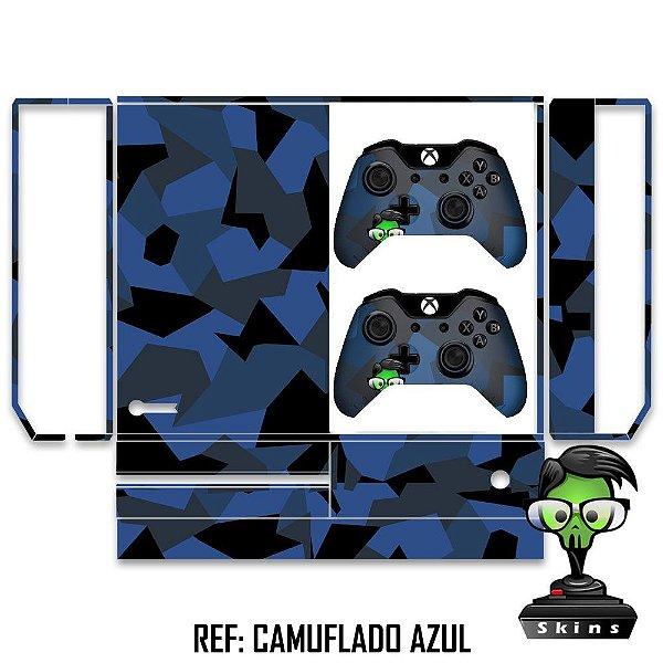 Adesivo skin xbox one fat Camuflado azul