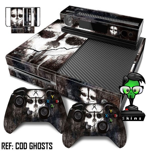 Adesivo skin xbox one fat Call of duty Ghosts