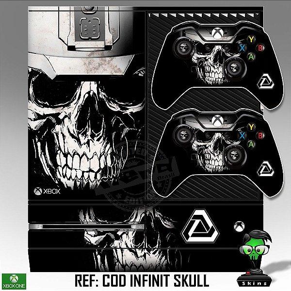 Adesivo skin xbox one fat Infinit warfare skull