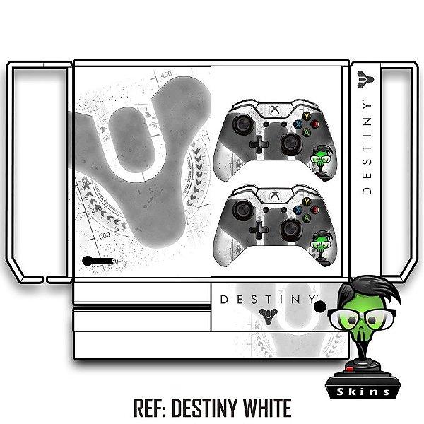 Adesivo skin xbox one fat Destiny branco