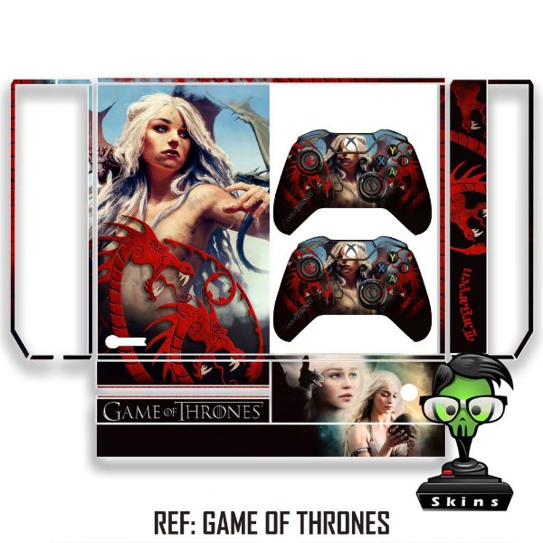 Adesivo skin xbox one fat Game of thrones