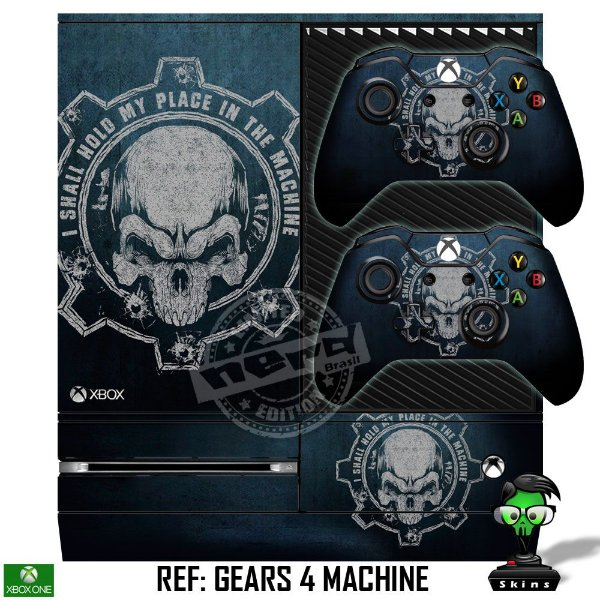 Adesivo skin xbox one fat Gears 4 machine