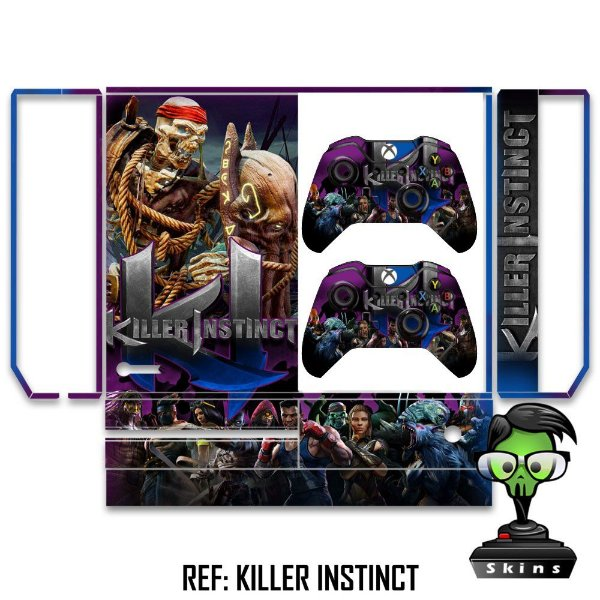 Adesivo skin xbox one fat Killer instinct Spinal