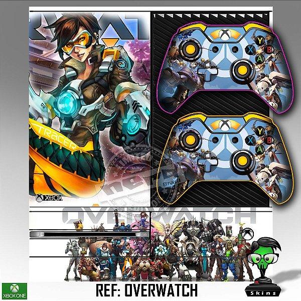Adesivo skin xbox one fat Overwatch