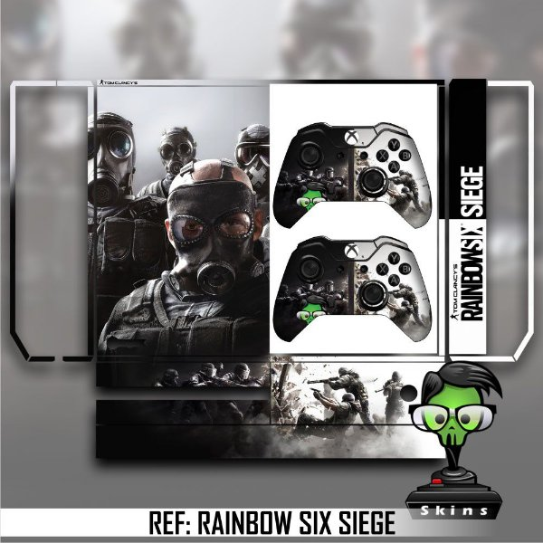 Adesivo skin xbox one fat Rainbow six siege