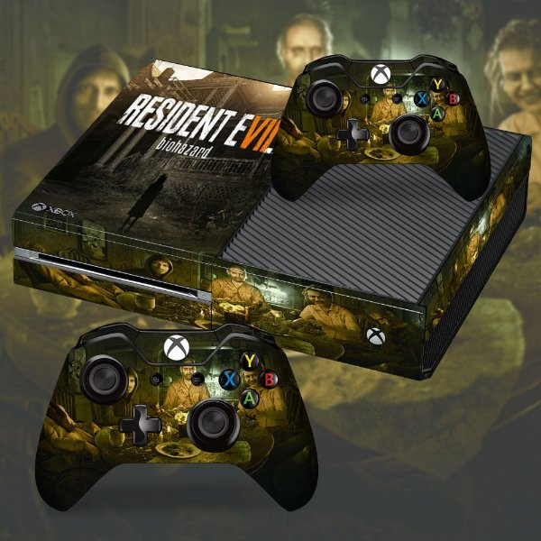Adesivo skin xbox one fat Resident Evil 7 biohazard