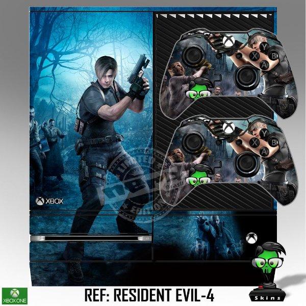 Adesivo skin xbox one fat Resident Evil 4
