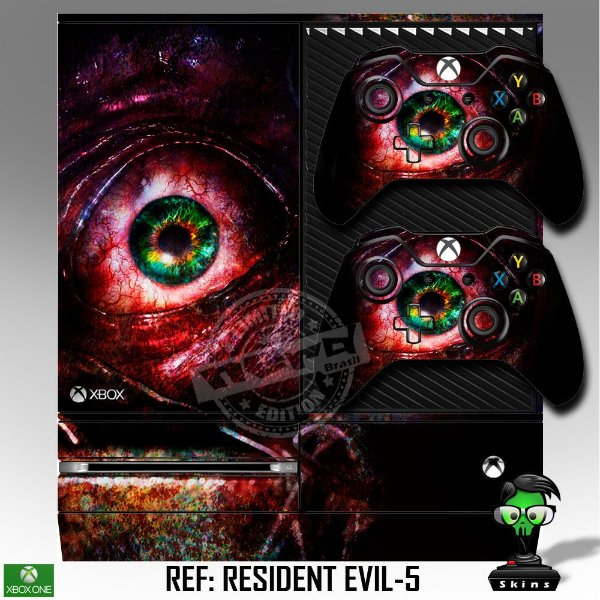Adesivo skin xbox one fat Resident Evil revelations