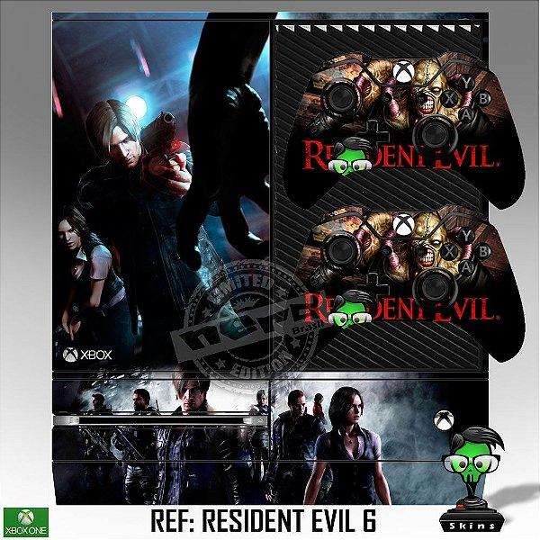 Adesivo skin xbox one fat Resident Evil 6