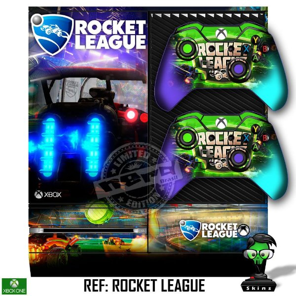 Adesivo skin xbox one fat Rocket league