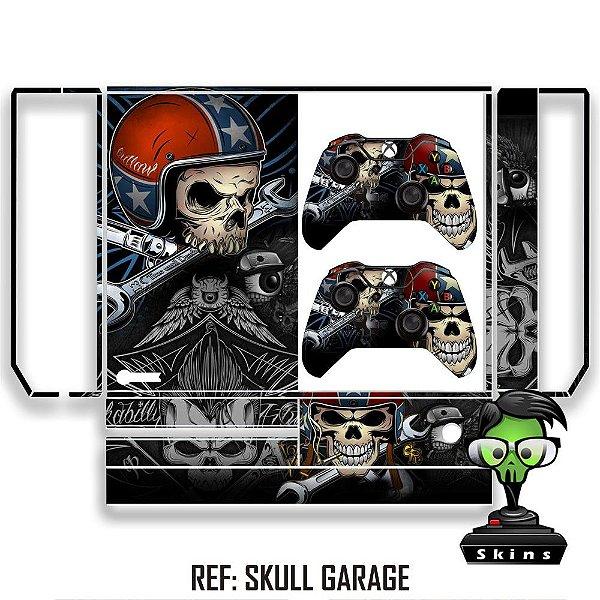 Adesivo skin xbox one fat Skull garage